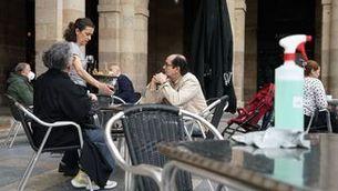 Una terrassa del centre de Bilbao (Europa Press/H.Bilbao)