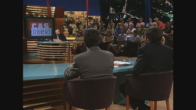 Jeroni Castell, germà de la víctima, i Jorge Colomar, investigador privat, al programa de TV3 'Cas obert'
