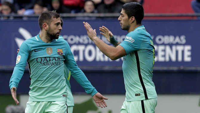 """Jordi Alba: """"Regalar Luis Súarez a un rival directe com l'Atlètic va ser un acudit"""""""