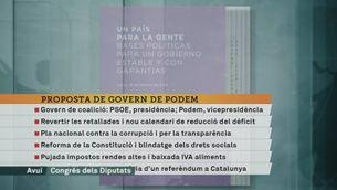 Iglesias fa pública la seva proposta de govern