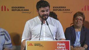 Declaracions Rufián i Oriol Junqueras