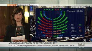 El Parlament aprova les resolucions independentistes