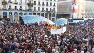 Concentració a la Puerta del Sol de Madrid