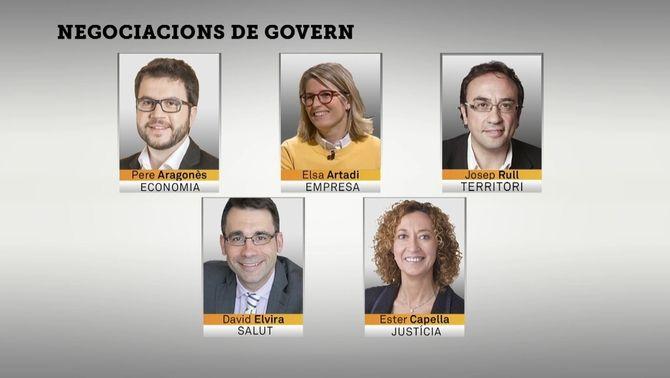 Aragonès, Artadi, Elvira i Capella, els nous noms que sonen per formar elgovern