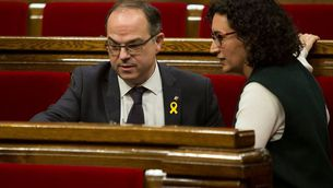 Turull, amb Marta Rovira al Parlament (ACN)