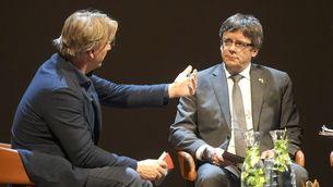 Carles Puigdemont, aquest dimarts a la nit a Amsterdam (EFE)