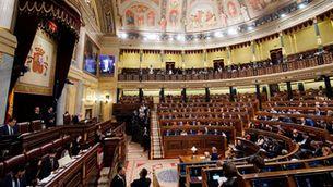Hemicicle del Congrés dels Diputats durant la constitució de la Cambra Baixa (Reuters/Juan Medina)