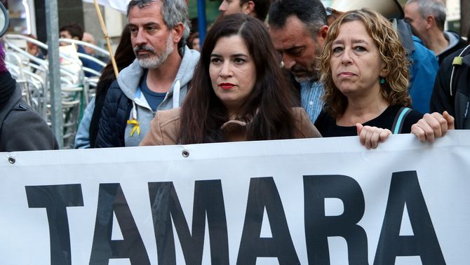 Tamara Carrasco, absolta dos anys i mig després de ser detinguda per terrorisme
