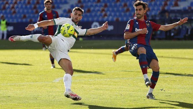 Llevant i Elx empaten al Ciutat de València (1-1)