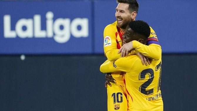 Messi apadrina Ilaix amb una assistència per al record