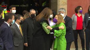Laura Borràs inicia la seva presidència al Parlament amb gestos carregats de simbolisme