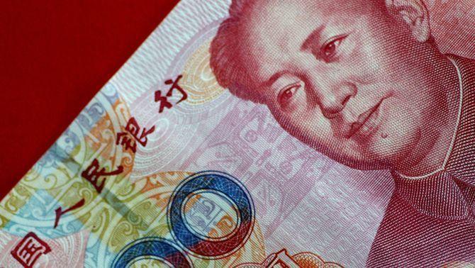 Un bitllet de yuan xinès