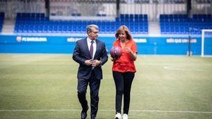 """Joan Laporta: """"D'aquí a menys de 10 anys tindrem una dona presidenta del Barça"""""""