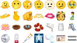 Un home embarassat entre els 37 nous emojis, més diversos i inclusius