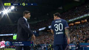 El Partit de Messi contra l'Olympique de Lió: poca connexió i cara de pocs amics en ser substituït
