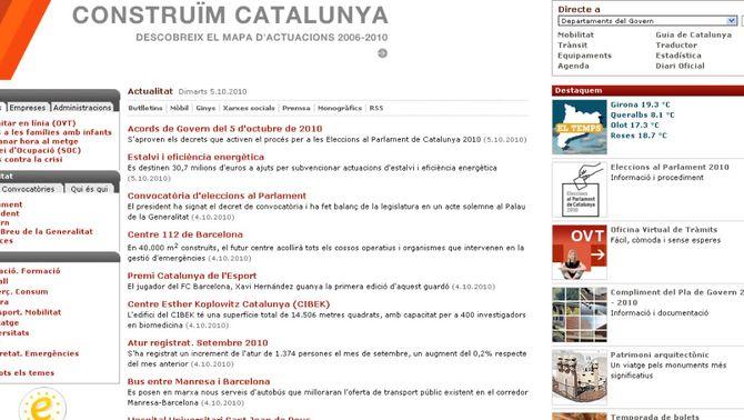 Detall del web Gencat.cat
