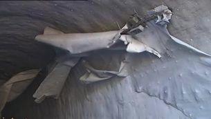 Despeniment d'un revestiment al túnel de la C-16 a Berga