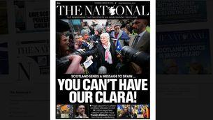 """El missatge de l'escocès """"The National"""" a l'Estat: """"No us podeu quedar la nostra Clara"""""""