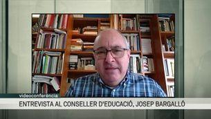 Entrevista: Josep Bargalló confirma que no hi ha data de retorn a les escoles