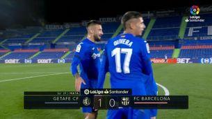 Resum del Getafe-Barça (1-0)