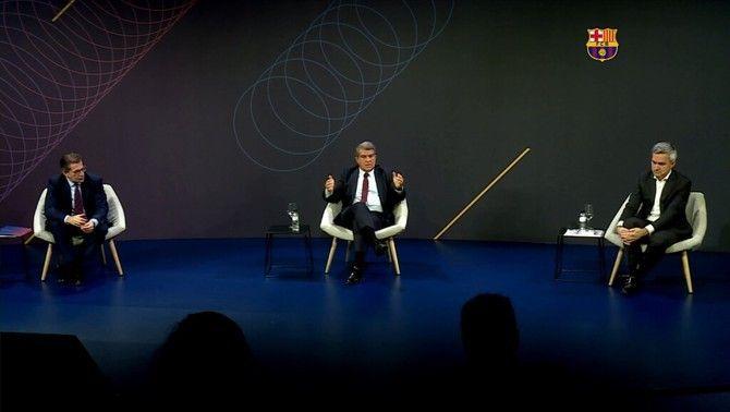 Tensió entre els candidats a la presidència del Barça en el primer debat televisat