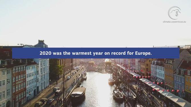 El 2020, l'any més càlid a Europa