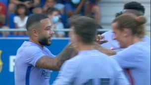 El Barça guanya el Girona amb un debut il·lusionant de Memphis