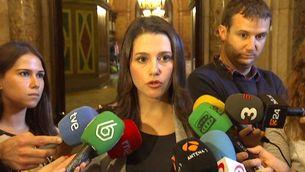 Inés Arrimadas, en declaracions des del Parlament de Catalunya