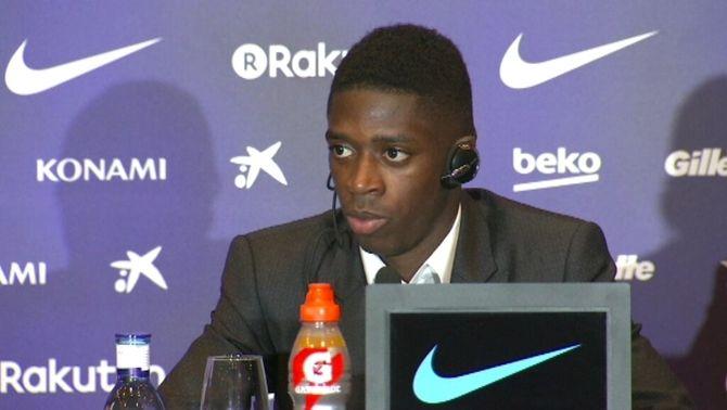 """Ousmane Dembélé: """"És un somni fet realitat, jugar al Barça, i lluitaré per guanyar tots els títols"""""""