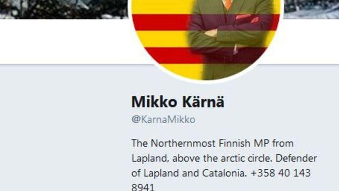 El perfil de twitter de Mikko Kärnä
