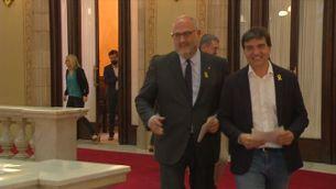 Tensió parlamentària pels vots dels processats