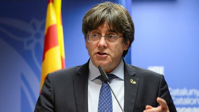 """Puigdemont, després de la sentència de Junqueras: """"La justícia europea ha dit 'prou'."""" (Reuters/Johanna Geron)"""