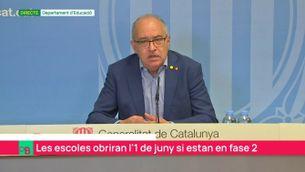 """Josep Bargalló: """"Al setembre estarem en emergència educativa"""""""
