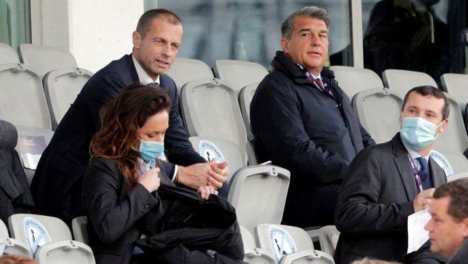 """Joan Laporta: """"No pagarem cap multa de la UEFA, n'he parlat amb Ceferin"""""""