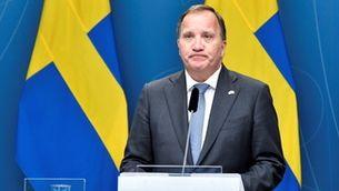 Stefan Löfven en la roda de premsa després de perdre la moció de censura