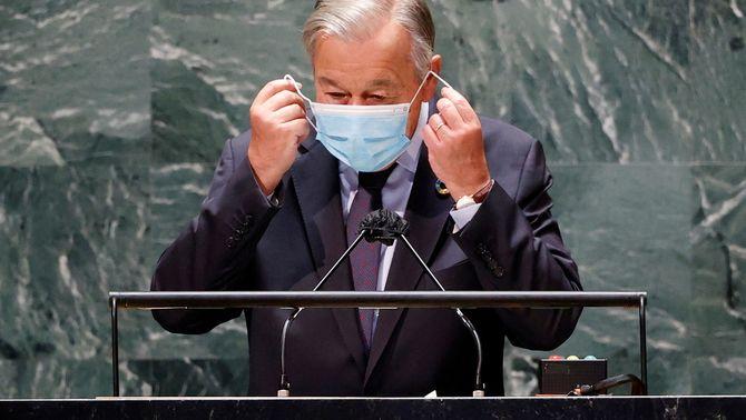 El president de les Nacions Unides, Antonio Guterres, intervé en una sessió prèvia a l'Assemblea General a Nova York