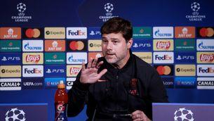Pochettino, durant la roda de premsa prèvia al partit contra el Manchester City (EFE/EPA/YOAN VALAT)