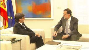 Rajoy i Puigdemont, abans de la reunió a La Moncloa