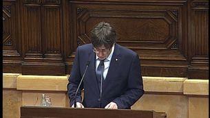 Puigdemont actualitza el full de ruta amb un referèndum el setembre de l'any que ve