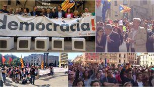 Concentracions de rebuig a tot Catalunya contra la persecució de l'1-O