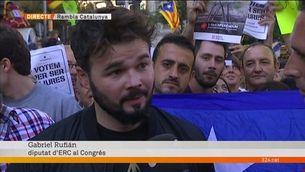 """Gabriel Rufián: """"Som un poble tossudament alçat que lluita pels drets civils"""""""