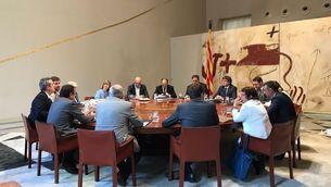 La foto del Consell de Govern que ha piulat Puigdemont