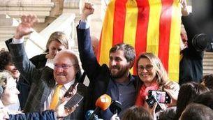 Lluís Puig, Toni Comín i Meritxell Serret