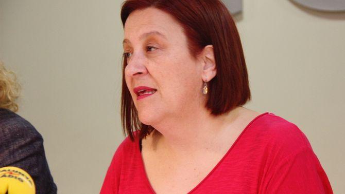 Perfil de la representant del Col·legi Oficial de Veterinaris de Barcelona, María Pifarré, en una roda de premsa, el 31 de maig del 2018 (horitzonta…