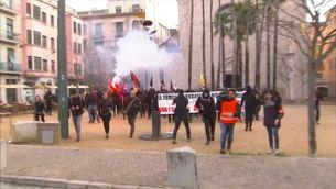 Càrregues policials a Girona en les protestes contra les concentracions d'ultradreta