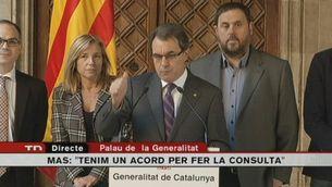 Artur Mas anuncia la pregunta i la data de la consulta