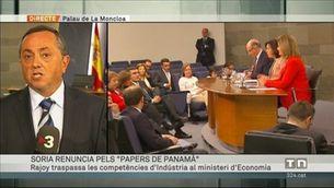 """El ministre Soria deixa el govern pels """"papers de Panamà"""""""