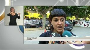 """Anna Gabriel: """"Ens han abocat a una situació 'in extremis': ahir a les 7 encara ens presentaven propostes"""""""