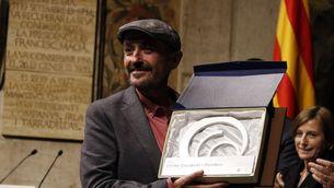 Carles Capdevila quan recollia el Premi Nacional de Comunicació 2016 (ACN)