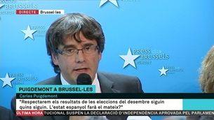 """Puigdemont: """"No soc aquí per demanar asil polític"""""""